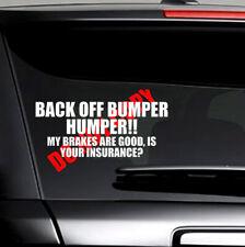 BACK OFF BUMPER HUMPER Car Tailgate Truck Window Vinyl Decal Sticker Accessories