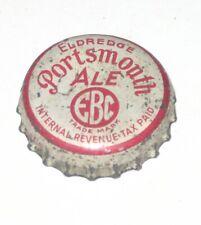 ELDREDGE BREWING CO PORTSMOUTH ALE USED BOTTLE CAP CROWN CORK LINED Beer IRTP