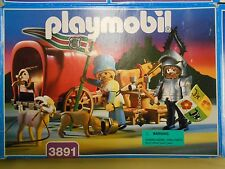 Playmobil 3891 Knights Castle Ox Cart Knight Covered Wagon
