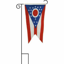 """12x18 12""""x18"""" State of Ohio Sleeved w/ Garden Stand Flag"""