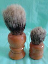 """Two Vintage One Rooney Best Badger 3"""", One Large 4-1/2"""" Shaving Brush Bakelite"""