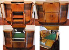 Superb Quality Antique / Vintage circa 1940 Wood Dry bar Liquor Cabinet Retro