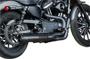 S&S Black 50 State Legal Superstreet 2-1 Exhaust System 07-13 Harley Sportster