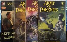 Evil Dead Army of Darkness #1-3 signed Ash Bruce Campbell cover artist Bolton