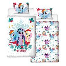 My Little Pony Holly Noël Set Housse de Couette Simple Parure de Lit Réversible