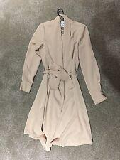 Womens Long Jacket by Mango Suit Wear, beige Smart/Casual Duster