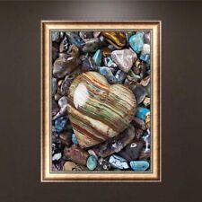 DIY 5D Diamond Embroidery Heart Stone Painting Cross Stitch Home Decor Craft