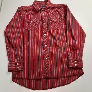 WRANGLER Western Youth L(10/12) Western Shirt  Long Sleeve Button Down  striped