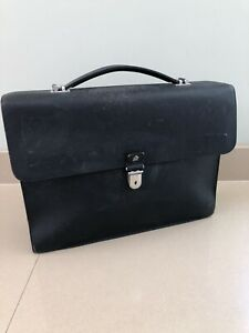 Dunhill Bourdon Large Briefcase Black, Saffiano Leather, Signs Of Wear