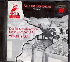 """SHOSTAKOVICH - Symphony 13 """"Babi Yar"""" - Saulius SONDECKIS - Sony"""