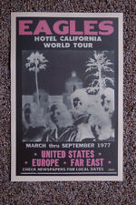 The Eagles Hotel California world concert tour poster 1977