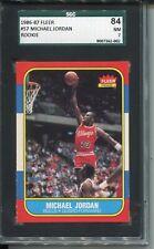 1986 Fleer Basketball #57 Michael Jordan Rookie Card RC Graded SGC Nr MINT 84 7