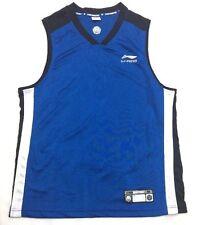 LI-NING Basketball Jersey Size Medium Blue Black And White #1 on Back