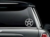 Pentacle Pentagram Die Cut Vinyl Car Window Decal Bumper Sticker US Seller
