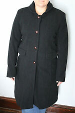 Womens Winter Black Wool Dress Coat Bitten by Sarah Jessica Parker Size Large