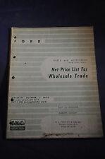 1928-1956 *ORIGINAL* Ford: Net Price List for Wholesale Trade FoMoCo