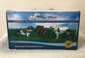 Walkin Wheels Adjustable Wheelchair Miniature Dachshund Blue Frame Complete Set