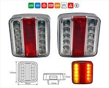 2 x 12V LED FEUX LAMPES  ARRIERES CAMION REMORQUE CARAVANE FOURGON 4 FONCTION E4