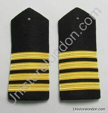 Epaulette Merchant Navy Master Hard Curved  4 Gold Bar R1250