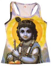 KRISHNA Dieu Hindou Avatar Tattoo Karma Goa DJ Plage Fête VIP Débardeur T-shirt