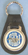 Vintage Blue Ford MACH I Leather USA Keyring Key Fob Key Holder