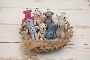Newborn Baby Girls Boys Mini Teddies Bunny Prop Friend for Photo Photography