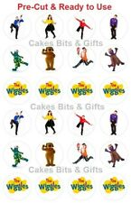 24x WIGGLES with LOGOS Edible Wafer Cupcake Toppers PRE-CUT Ready to Use