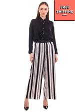 TWIST & TANGO Satin Trousers Size 38 / S-M Stretch Elasticated Waist Wide Leg