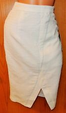 Jennifer Lopez White Pencil Skirt Fully Lined Gold Zipper Small Women's NWT NEW