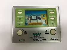 Vintage Japan GAKKEN LCD Card Game - TROJAN HORSE, Working