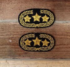 Confederate Officers CSA CS Rebel Collar Insignia - General - Black