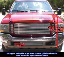 Fits Ford F-250/F-350 Super Duty/Excursion Billet Grill Combo 1999-2004