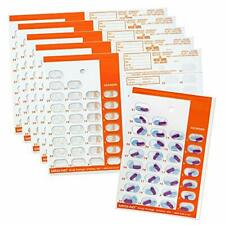 Color Coded Monthly 31 Day Medication Blister Cards Cold Seal 6 pack ORANGE