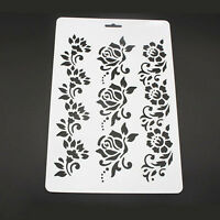 Plastic Embossing Flower Paper Card Painting Layering Stencils
