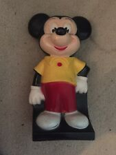 "VINTAGE MICKEY MOUSE  7.5"" Tall Plastic COIN BANK"