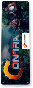 Contra Arcade Sign, Classic Arcade Game Marquee, Game Room Tin Sign B711