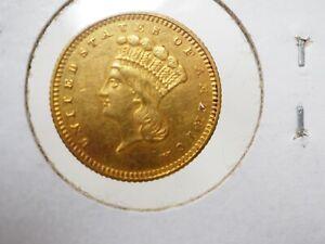 1862 $1 Indian Princess Gold Dollar - Civil War Era