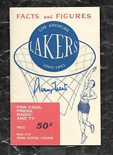 1960 1st Year NBA LA Lakers Press/Media Guide Nm/mt Signed Rookie RC Jerry West!