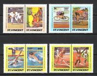 JO été Saint Vincent (26) série complète de 8 timbres neufs** 1er choix