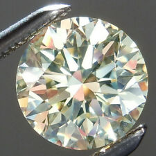 Round Loose Moissanite Diamond For Ring 6.75 ct Vvs1/12.40mm Off White Yellow