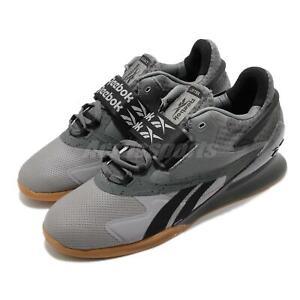 Reebok Legacy Lifter II 2 Grey Black Gum Men Weightlifting Training Shoes FY3537