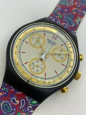SCB108 New Swatch 1992 Chronograph Award Classic Swiss Made Authentic