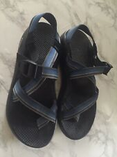 Mens Size 10 CHACO Classic Blue Black Nylon Sport Sandals Slides Vibram Sole