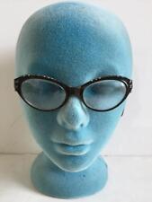 1 pair vintage eyeglasses 1960s  hard plastic with sparkle childs?