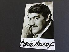 MARIO ADORF signed Foto-Karte 9x14
