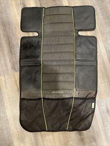 Eddie Bauer Car Seat Protector Cover Grey & Black With Storage Pockets