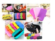Cute Womens Girls Fashion Color Silicone Pouch Wallet Glasses Coin Bag