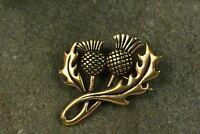 Brosche  Schottische Distel Bronze Schotten Wikinger Fibel Bronzeschmuck