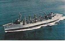 NAVAL MILITARY POSTCARD UNUSED U.S.S. KALAMAZOO AOR-6 - NAVY SHIP