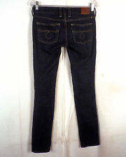 euc Lucky Brand ladies Lola Skinny Denim Jeans Dark Blue Wash 00 / 24